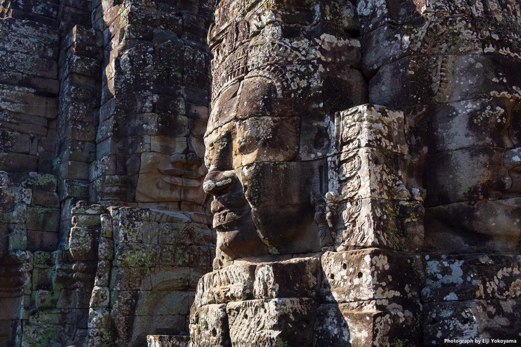 アンコールトム(Angkor Thom)、バイヨン(Bayon)。顔の巨石。