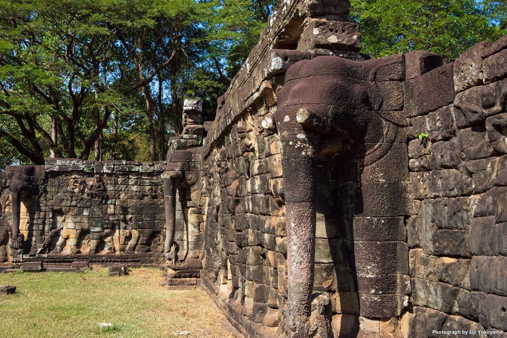 アンコールトム(Angkor Thom)、像のテラス。