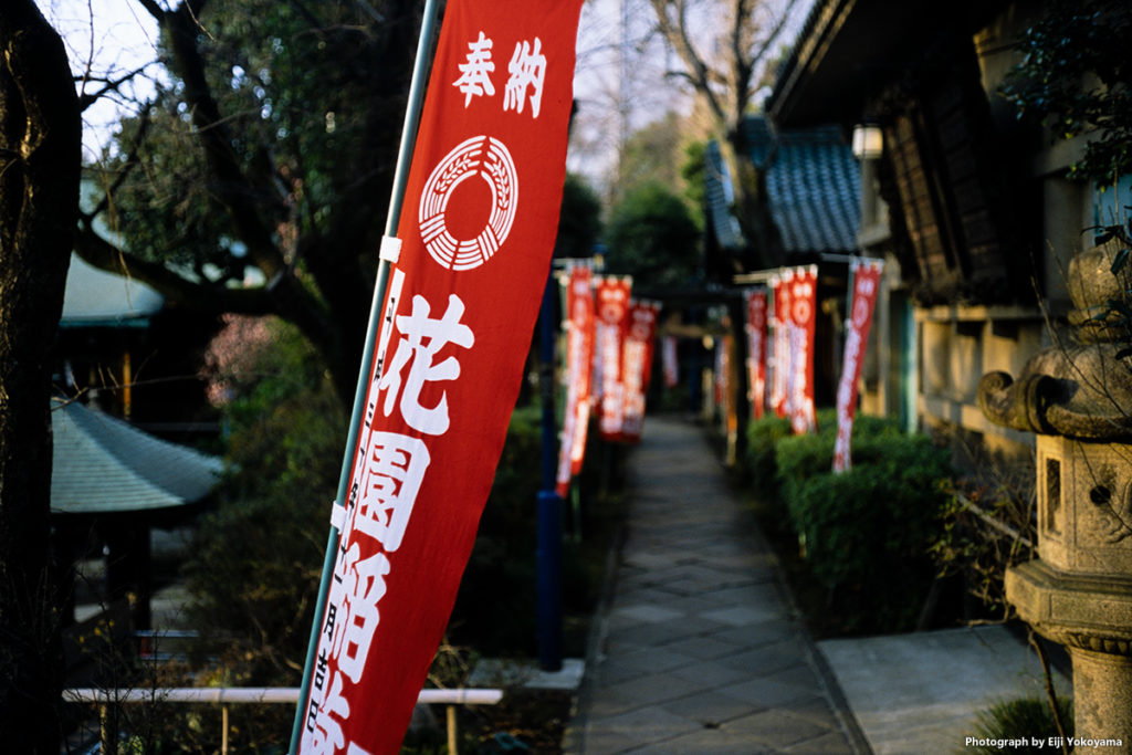 さらにもう1枚、花園稲荷神社。こちらもいい感じでボケてます。