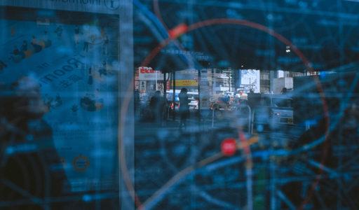 ヒカリエ前、渋谷駅周辺マップに映る風景。Leica M-A