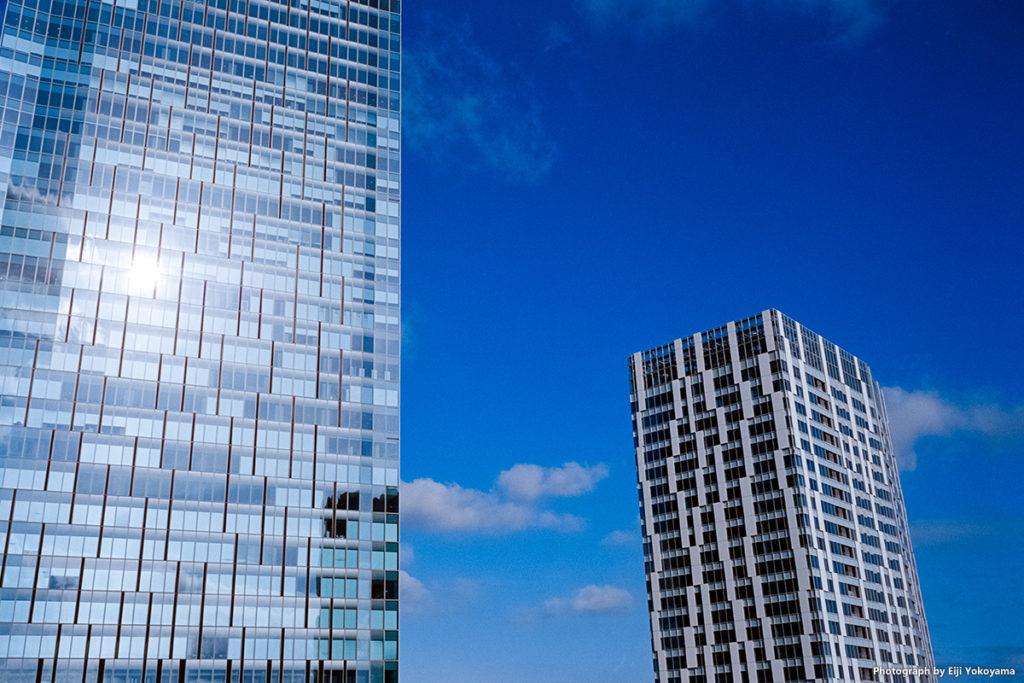 左が渋谷スクランブルスクエア、右が渋谷ストリーム。