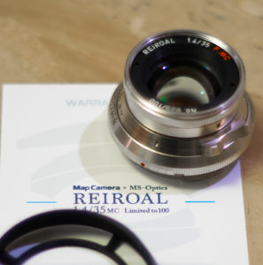 MS-Optics REIROAL M35mm F1.4 MC レビュー