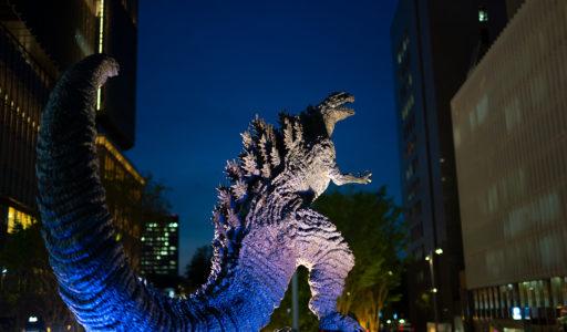 東京ミッドタウン日比谷のシン・ゴジラ像