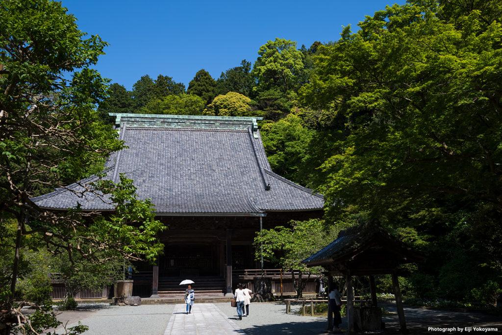 鎌倉・妙本寺。独特の瓦屋根。なかなか立派なお寺です。