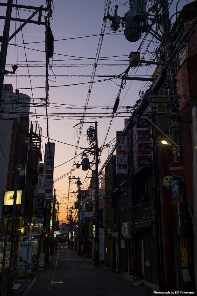 宵の先斗町界隈。